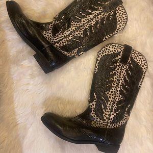 Black and Dalmatian Cowboy Boots